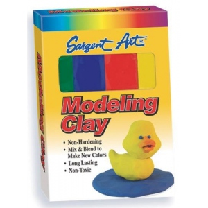 Sargent Art® Non-Hardening Modeling Clay Primary 4-Pack: Multi, 4-Pack, (model 224400), price per 4-Pack