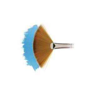 Winsor & Newton™ Cotman™ Series 888 Fan Short Handle Brush #4: Short Handle, Synthetic, Fan, Watercolor