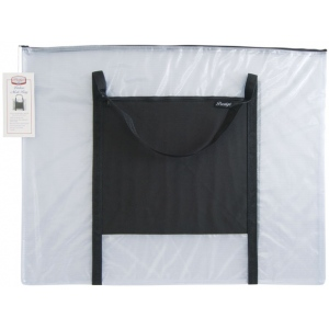 "Alvin® NBH Deluxe Series Deluxe Mesh Bag 23"" x 31"": Black/Gray, Clear, Mesh, Nylon, Vinyl, 23"" x 31"", (model NBH2331), price per each"