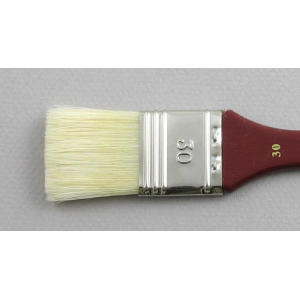 Hog Bristle Series 200: Wide Flat Size 30 Brush