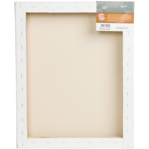 "Fredrix® PRO Dixie 10 x 10 Stretched Canvas Deep Bar 2-1/4"": White/Ivory, 2 1/4"", Sheet, Cotton, 10"" x 10"", Stretched"