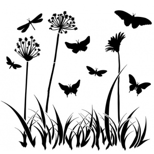 "The Crafter's Workshop 12"" x 12"" Design Template Butterfly Meadow: 12"" x 12"", Patterned Stencil, (model TCW197), price per each"