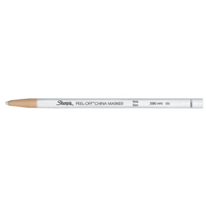 Sharpie® Peel-Off™ White China Marking Pencil: White/Ivory, (model 164T), price per dozen (12-pack)