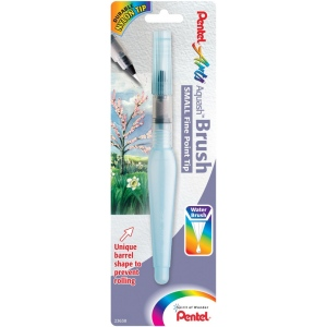 Pentel® Aquash™ Fine Point Water Brushes Small: Watercolor, (model FRHFBP), price per each