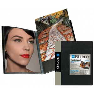 "Itoya® Art Profolio® ""The Original"" Presentation Books 8"" x 10"": Black/Gray, Polypropylene, 24 Pages, 8"" x 10"""