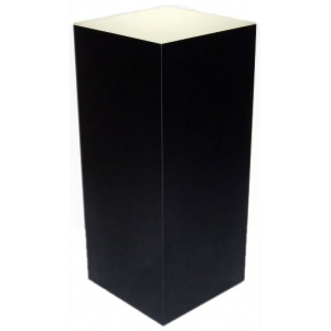 "Xylem Lighted Black Laminate Pedestal: 18"" x 18"" Base, 24"" Height"