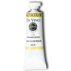 Da Vinci Artists' Watercolor Paint 15ml Hansa Yellow Medium: Yellow, Tube, 15 ml, Watercolor, (model DAV242-2F), price per tube