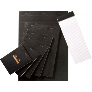 "Rhodia 4.5 x 6.75 Graphic Sketch/Memo Pad: Pad, 5"" x 5"", 80 Sheets, 4 1/2"" x 6 3/4"", 20 lb, (model RB14), price per 80 Sheets pad"