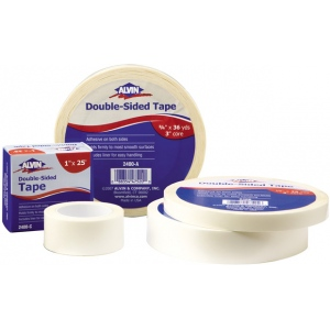 "Alvin® Double-Sided Tape 1"" x 36yds: White/Ivory, 1"" x 36 yd, Double-Sided, 1"""