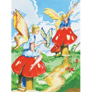 "Royal & Langnickel® Painting by Numbers™ 8 3/4 x 11 3/8 Junior Small Set Flower Fairy: 8 3/4"" x 11 3/8"""