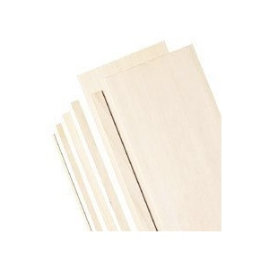 "Alvin® 4"" Wide Balsa Wood Sheets 1/32"": Sheet, 20 Sheets, 4"" x 36"", 1/32"", (model BS1141), price per 20 Sheets"