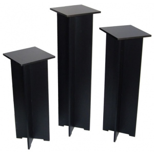 "Xylem Quick Set Pedestal, Black: Single 11-1/2"" x 11-1/2"" Body Size, 40"" Height"