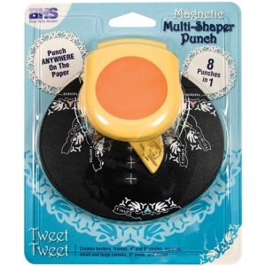 Blue Hills Studio™ Multi-Shaper Magnetic Punch Tweet Tweet: Border, Circle, Corner, Oval, Square, (model BHS626), price per each