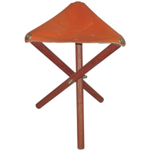 "Heritage Arts™ Leather Seat Wood Stool: No, Brown, No, Under 24"", Leather, (model WS02), price per each"