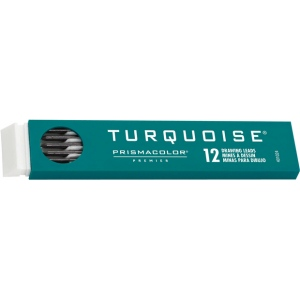 Prismacolor® Turquoise® 2mm Lead H: H, Black/Gray, 2mm, 12-Pack, Lead