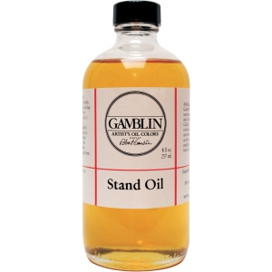 Gamblin Linseed Stand Oil 8oz: 8 oz, Linseed Oil, (model G08008), price per each