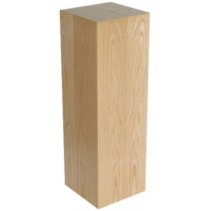"Xylem Oak Wood Veneer Pedestal: 15"" X 15"" Size, 18"" Height"