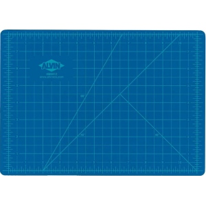 "Alvin® HM Series Blue/Gray Self-Healing Hobby Mat 18 x 24: Black/Gray, Blue, Grid, Vinyl, 18"" x 24"", 2mm, Cutting Mat, (model HM1824), price per each"