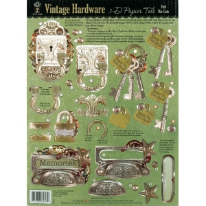 "Hot Off the Press 3-D Papier Tole Die Cuts Vintage Hardware: Multi, 8 1/2"" x 11"""