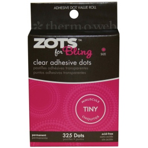 Therm O Web Zots™ Bling Clear Adhesive Boxed Dots: Clear, Glue, Round, (model TW3770), price per box