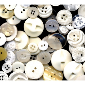 Buttons Galore & More Grab Bag White