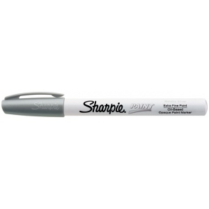 Sharpie® Oil Paint Marker Extra Fine Silver: Metallic, Paint, Fine Nib
