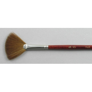 Kolinsky Sable Long Handle Fan Brush # 6 (Made in Russia)