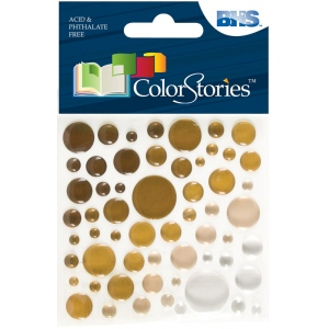 "Blue Hills Studio™ ColorStories™ Epoxy Color Spots Stickers Brown: Brown, Epoxy, 3 1/4"" x 3 1/4"", Dimensional, (model BHS10617), price per each"