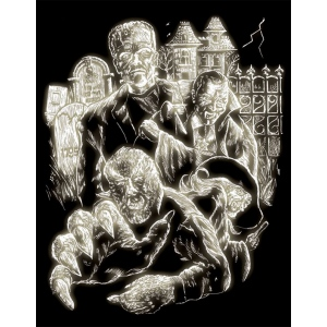 "Royal & Langnickel® Engraving Art Set Glow In The Dark Foil Monster: 8"" x 10"", Glow in the Dark"