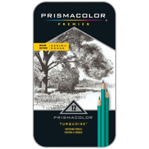 Prismacolor® Premeir Turquoise® Premier Medium Drawing Pencil Set: Black/Gray, Drawing
