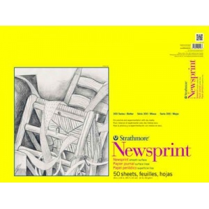 "Strathmore 18"" x 24"" Smooth Tape Bound Newsprint Pad"