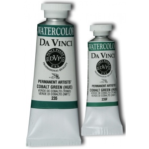 Da Vinci Artists' Watercolor Paint 37ml Cobalt Green Hue: Green, Tube, 37 ml, Watercolor, (model DAV235), price per tube