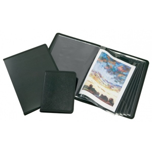 "Alvin® Art Presentation Book 11"" x 14"": Black/Gray, Polypropylene, 24 Pages, 11"" x 14"", (model APB1114), price per each"