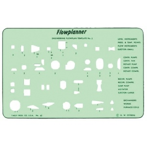 "Timely® Flowplanner Template Set: Green, 4 3/8"" x 6 7/8"", Mechanical, (model 60T), price per set"