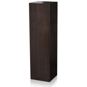 "Xylem Ebony Walnut Wood Veneer Pedestal: 18"" x 18"" Size, 12"" Height"