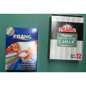 Dixon Prang Chalk: Dustless, White Sticks