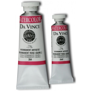 Da Vinci Artists' Watercolor Paint 15ml Permanent Rose : Red/Pink, Tube, 15 ml, Watercolor, (model DAV264F), price per tube