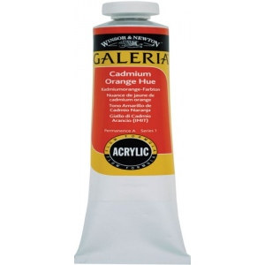 Winsor & Newton™ Galeria™ Acrylic Color 60ml Cadmium Orange Hue: Orange, Tube, 60 ml, Acrylic