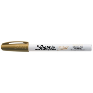 Sharpie® Oil Paint Marker Extra Fine Gold: Metallic, Paint, Fine Nib, (model SN35532), price per each