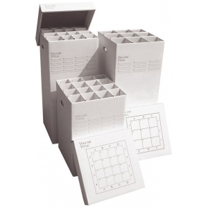 "Advanced Organizing Systems 9 Slot Manager Rolled Storage 37""h x 16""w x 16""l: 9 Slots, White/Ivory, Cardboard, 16""l x 16""w x 37""h, (model MGR-37-9), price per each"