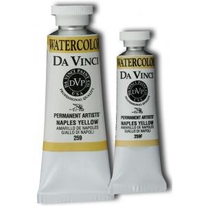 Da Vinci Artists' Watercolor Paint 37ml Naples Yellow: Yellow, Tube, 37 ml, Watercolor, (model DAV259), price per tube