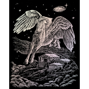 "Royal & Langnickel® Engraving Art Set Holographic Foil Pegasus: 8"" x 10"", Metallic, (model HOLO12), price per set"