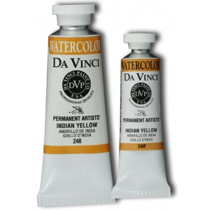 Da Vinci Artists' Watercolor Paint 37ml Indian Yellow: Yellow, Tube, 37 ml, Watercolor, (model DAV248), price per tube