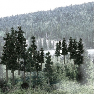 "Woodland Scenics® 2 1/4""-4"" Ready Made Tree Value Pack Conifer: 33-Pack, 2 1/2"" - 4"", Tree, (model WSTR1580), price per each"