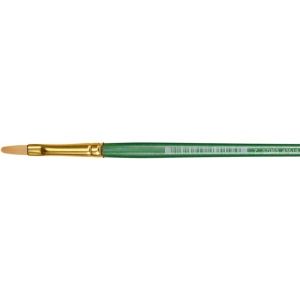 Princeton™ Good Synthetic Sable Watercolor and Acrylic Brush Filbert 6: Good, Short Handle, Synthetic Sable, Filbert, Acrylic, Watercolor, (model 4350FB-6), price per each
