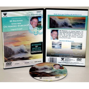 Bill Blackman DVD: Laguna Sunset Seascape, Oil Painting, 1 Hour