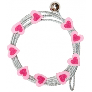 "Mishu Mighty Magnet Photo Cable Pink Hearts: Red/Pink, 57"", Heart, Cable, (model M894), price per each"