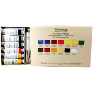 Williamsburg® Basic I 12-Color Set: Multi, Tube, Multi, Oil, (model 6008500-0), price per set