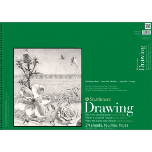 Strathmore® 400 Series Wire Bound Recycled Drawing Pad