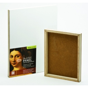 "Ampersand Traditional Profile 3/4"" Cradled Artist Panel: 8"" x 10"", Case of 10"